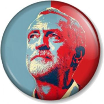 Jeremy Corbyn Pinback Button Badge Labour Party Politics #jezwecan Support Leader of the Opposition